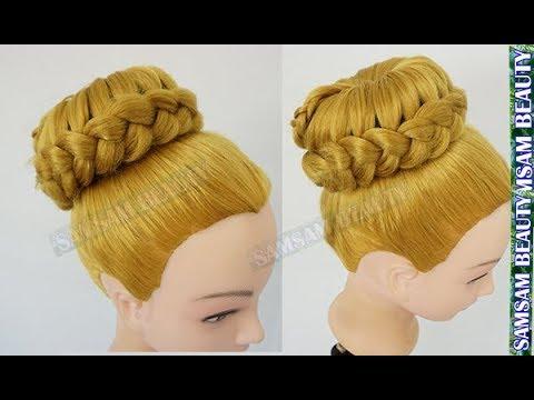 Tuto coiffure simple: chignon bun cheveux long (soirée/mariage/pour les fêtes) - YouTube