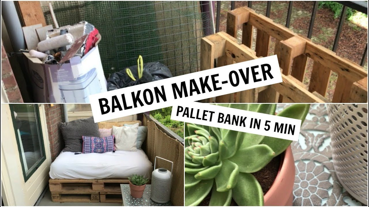 Betere BALKON MAKE-OVER | PALLET BANK IN 5 MINUTEN | Sophie Hol - YouTube HT-31