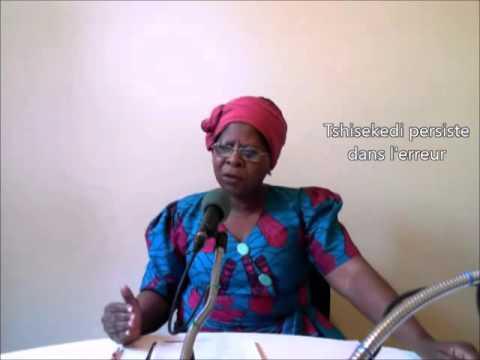 Justine KASA-VUBU: TSHISEKEDI PERSISTE DANS L