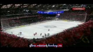 IHWC 2009 Russia - Swiss 4:2 Game Highlights (5 goals without Perezhogin (EN))