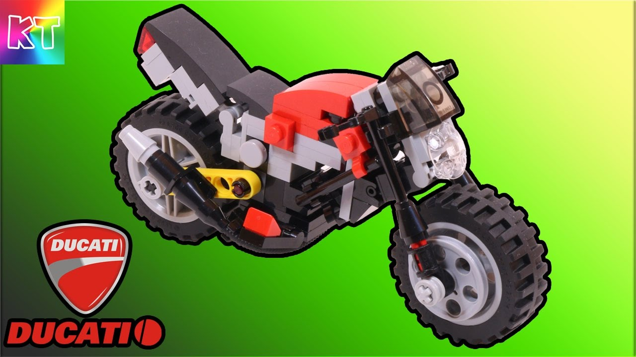 Lego Ducati Monster 695 Sport Bike Cars For Kids Speed Build Review