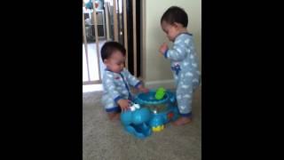 Twin Boys: Seat And Step-stool. 9-24-12