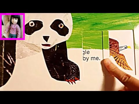 Panda Bear, Panda Bear What do you See? by Bill Martin Jr. Eric Carle Picture Book 熊猫 Pinky Purple