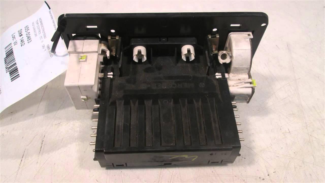 1985 Mercedes 300d Temperature Climate Ac Heater Control Niq Benz 230ce Fuel Filter 1238301285 Mbipartscom Used O Oem