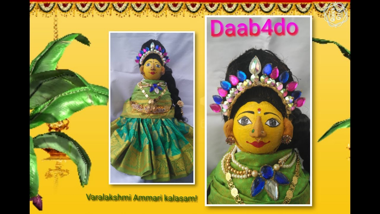 Making of Varalakshmi ammavari face for Kalasam on coconut