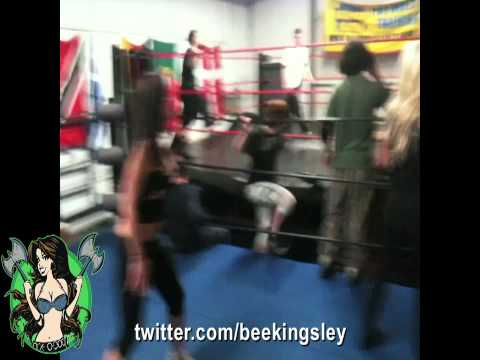 Angelina Love and Brigitte Kingsley in the ring.mov
