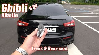 마세라티 기블리 S Q4 리벨레 트렁크 & 2열(Maserati Ghibli S Q4 rubella trunk & rear seat)