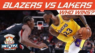 Who Wins Portland Trailblazers vs LA Lakers | Hoops N Brews
