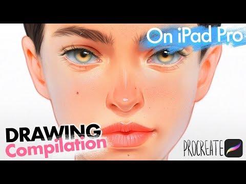 IPAD PRO drawing compilation by BLUESSSATAN. Procreate app