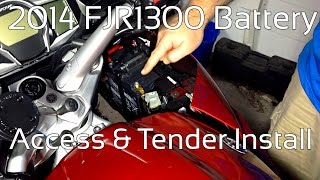 2014 Yamaha FJR1300ES Battery Access And Tender Pigtail Installation