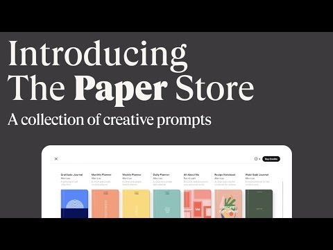 Introducing The Paper® Store by WeTransfer