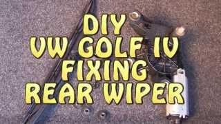 How to fix rear wiper in GOLF IV? Jak naprawić spryskiwacz tylnej wycieraczki w Golf IV?