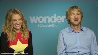 WONDER interviews - Julia Roberts, Owen Wilson, Jacob Tremblay, Daveed Diggs, Vidovic