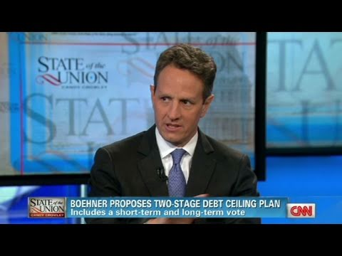 CNN Official Interview: Treasury Secretary, Tim Geithner 'Default is unthinkable'