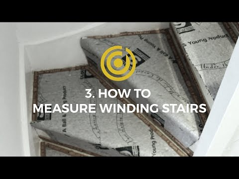 Delicieux Designer Carpet Measuring Videos 3   How To Measure Winding Stairs