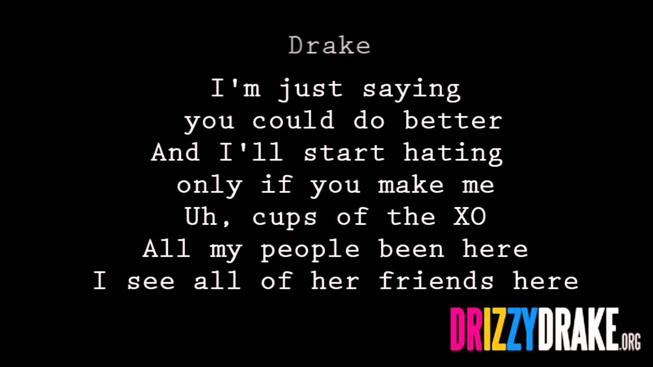Drake Marvins Room Lyrics Video Youtube