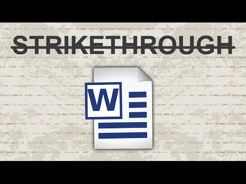 Strikethrough In Word - 2015