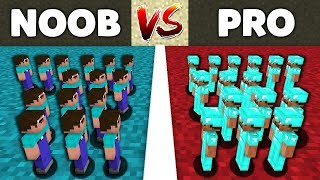 Minecraft Battle: NOOB vs PRO : SUPER FIGHT SOLDIERS Challenge in Minecraft Animation