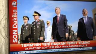 1 Temmuz 2015 ismet Yilmaz meclis başkanı