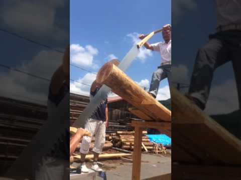 japanese hewing human power tool in kyoto 【大鋸】