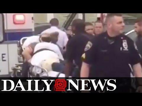 New York bombing suspect Ahmad Khan Rahami loaded into ambulance