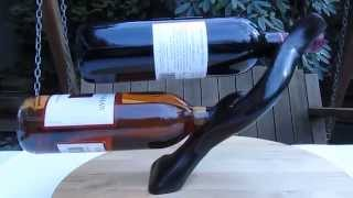 Self Balancing Double Wine Bottle Holder - Www.heartwoodgifts.com