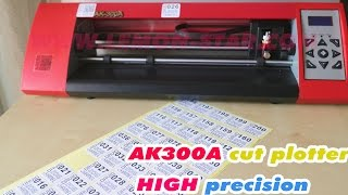AK300A cutting plotter for small flexible label soutions