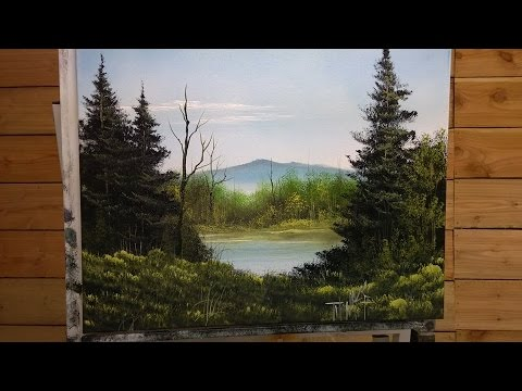 Painting With Magic ( Blue Mountain Of Kentucky) season 3 ep 9 wet on wet oil painting