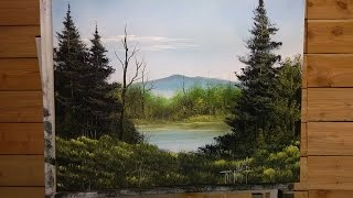 Painting With Magic ( Blue Mountain Of Kentucky) Season 3 Ep 8 Wet On Wet Oil Painting