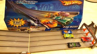 Hot Wheels 4 Lane Raceway Track Foldout Fun Playset with Epic Finish Line