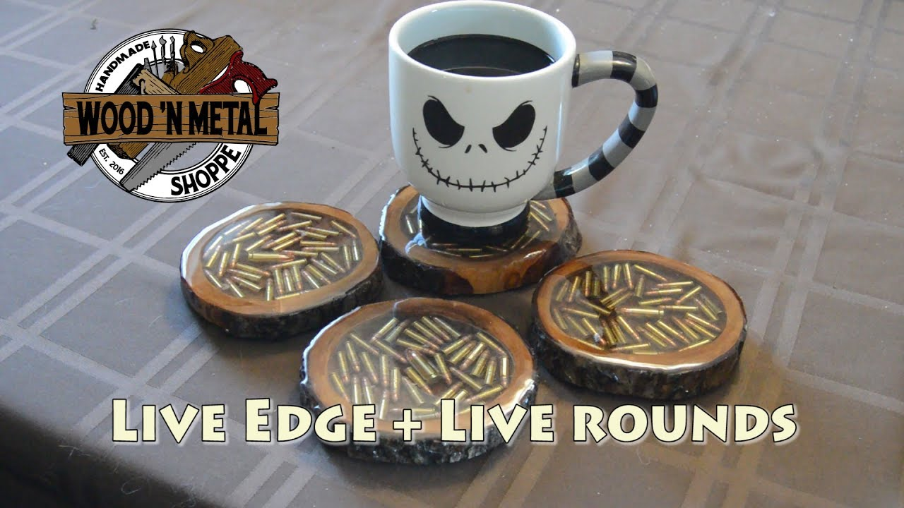 Live Edge Live Round Coasters with Resin Epoxy YouTube