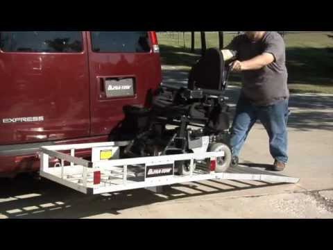 UltraTow Aluminum Cargo Carrier with Ramp  YouTube