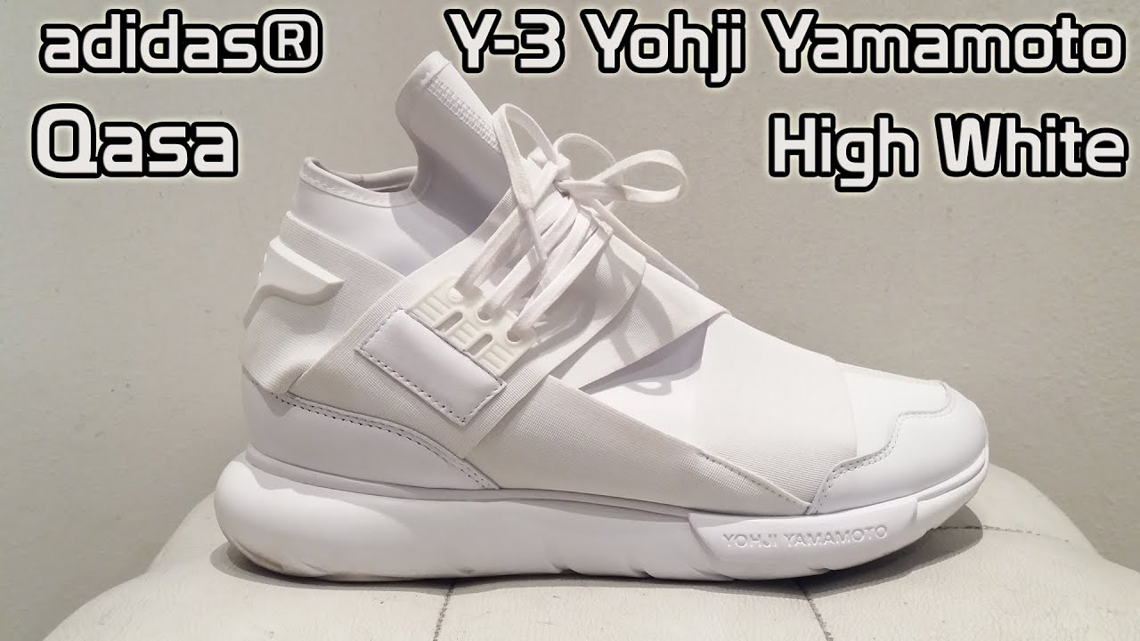 uk cheap sale new high quality sneakers for cheap adidas® Y-3 Yohji Yamamoto Qasa High White [shoe details + on feet ...