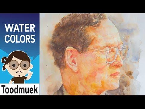 นายตูดหมึก สอนวาดรูป สีน้ำ ep 10 | สอนวาดภาพ พระเจ้าอยู่หัวในหลวง ร.9 |  How to painting