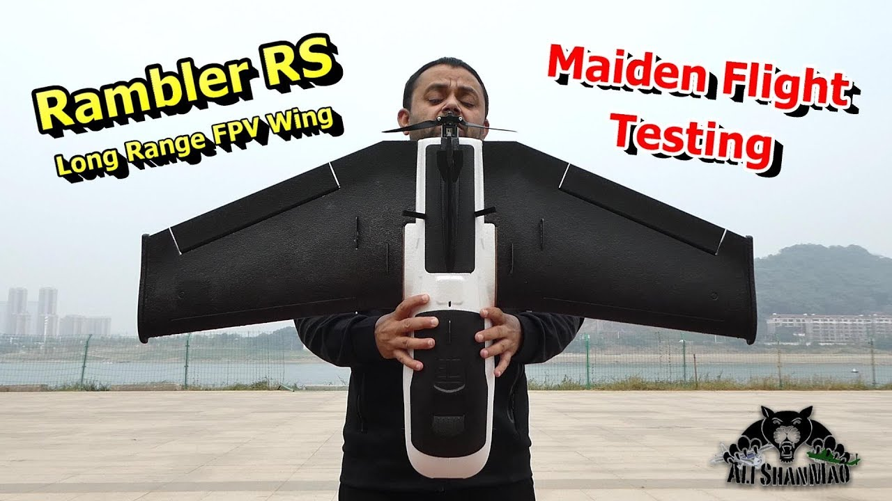 Flight Testing New Rambler RS Long Range FPV Flying Wing