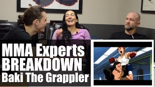 MMA Experts Breakdown Baki The Grappler • Episode 1, Baki vs Yuri, Mountain Training