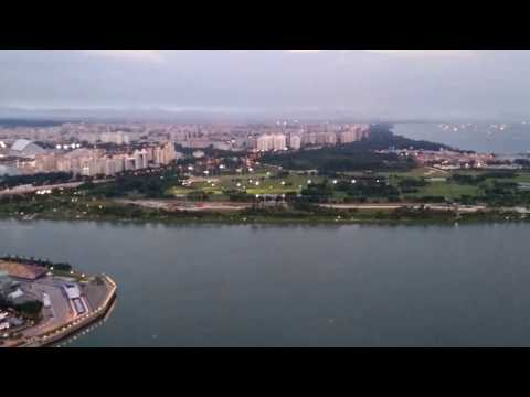 Singapore Marina bay observation deck