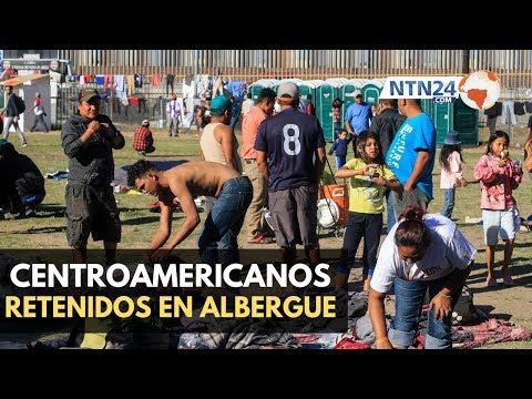 Disturbios en albergue de la caravana migrante en Coahuila, México