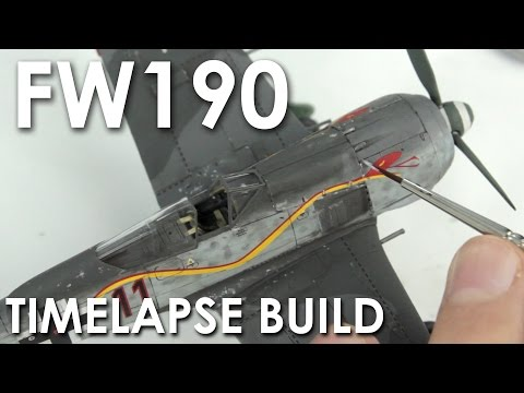 Airfix Fw190 Timelapse Build - 1:72 Scale Model Kit
