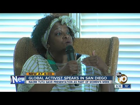 Global activist Naomi Tutu speaks in San Diego