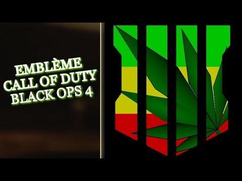 EMBLEME CALL OF DUTY BLACK OPS 4 FEUILLE DE CANNABIS