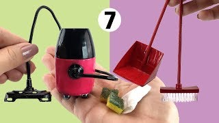 7 Cleaning Things for Barbie Doll easy to do - DIY Miniature
