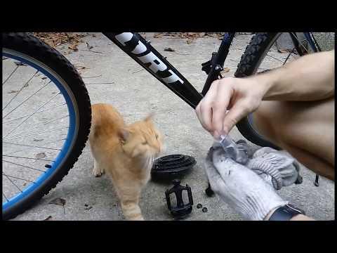 Как снять шатуны,разобрать каретку,смазать и поменять подшипники! sport g32 bike
