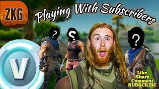FORTNITE BATTLE ROYALE - Fortnite Playing with Subs - 242 victoires - Builder Pro - New Skins - Live