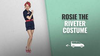 Rosie The Riveter Halloween Costume: Delicious Riveting Rosie Costume, Navy Blue, Medium