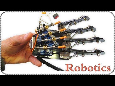 Бионическая рука робота на сервоприводах