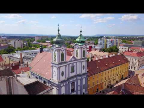 Székesfehérvár Hungary from Above 4K/UHD