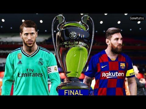 PES 2020 - Barcelona Vs Real Madrid - Final UEFA Champions League 2019/2020 - Messi Vs Hazard