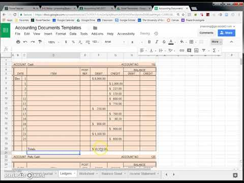 using google sheets in accounting documents youtube