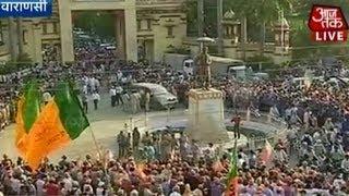 Sea of saffron awaits Modi